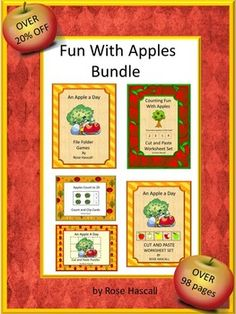 undle-Apples: Fall is the time for picking apples fresh off the tree, making apple pie and having fun at fall apple festivals. Students can continue that fun with this Fun With Apples Bundle.  This Bundle consists of the following five products;  Counting Fun With Apples An Apple A Day Cut and Paste Worksheet Set An Apple A Day File Folder Games An Apple A Day Cut and Paste Puzzles Apples Count to 20 Count and Clip Cards