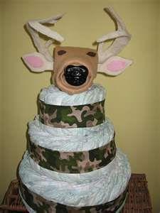 diaper camo cake