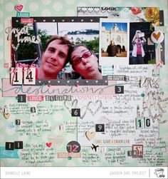 Glitter Girl Adventure 107: Love List Layouts @2peasinabucket