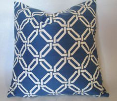 SALE Braemore Wisteria Blue Chain Link fabric by LivePlush on Etsy, $18.00