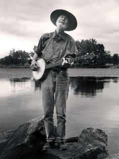 Pete Seeger (born May 3, 1919) is an American folk singer, political activist and author, and a key figure in the mid-20th century American folk music revival.