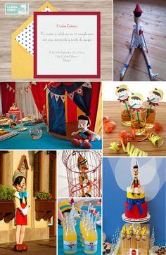INVITACIONES INFANTILES E IDEAS PARA CELEBRAR UN CUMPLEAÑOS DE PINOCHO