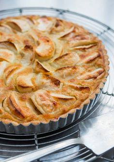 A classic French apple tart, loaded with apple flavor! via @davidlebovitz