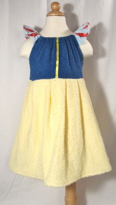 Etsy Transaction - Snow White Inspired Princess Beach Cover Up - Custom Made Boutique Outfit Girls Size 1T-6