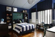 Sophisticated teen boy's bedroom