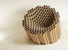 cardboard tubing Slice Chair by Matthew Laws