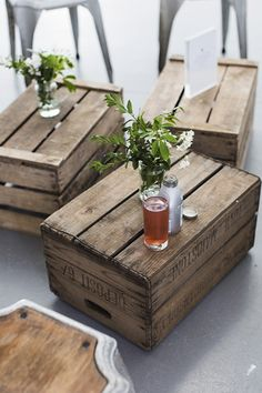 Wooden crates coffee table