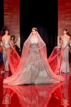 eliesaab, fashion, dress, couture, fall 2013