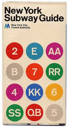 vintage NYC Subway Guide ....image only, no actual guide