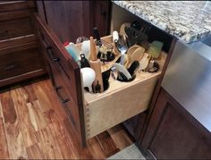 incredible kitchen ideas modular Wonderful Kitchen Ideas decorating    I like this idea instead of utensils in a drawer or in a container on the counter top    -m-