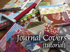Journal covers tutorial! #DIY #fabric