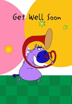 Get Well Horse Greeting Card Free #Printable