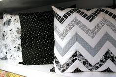 Tuxedo pillows! via Spring Quilt Market Wrap-Up! | Dear Stella Design