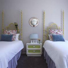 guest room, twin room, girl room, guest bedrooms, headboards, twin beds, twins, teen bedroom, kid room