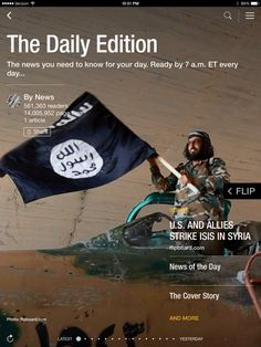 U.S. and allies strike ISIS in Syria, religion in America and a new cuddle app. Check out today's edition: flip.it/dailyedition
