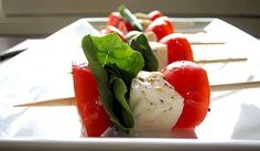 caprese on a stick! one of my favs