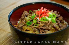 Gyudon (Japanese beef rice bowl) Recipe