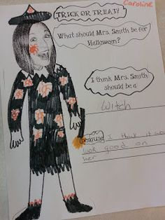 Fun Art Freebie! What Should my Teacher be for Halloween?