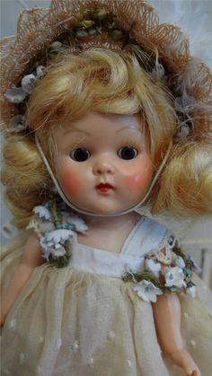 Vtg 1952 Vogue BROWN EYE Ginny Strung Doll #60 PAMELA All Original FEVER CHEEKS