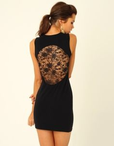 Love the lace back ..