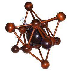 Arjeu Hermes Wooden Molecule 3D Puzzle - Vintage French Game