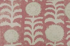 Killi in Pink | Penny Morrison Fabrics #textiles #fabric #linen #floral #pink