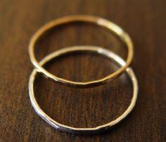 stackable rings, ring set, gold silver, band ring, sterling silver, gold rings, stacking rings, silver rings, mixed metals