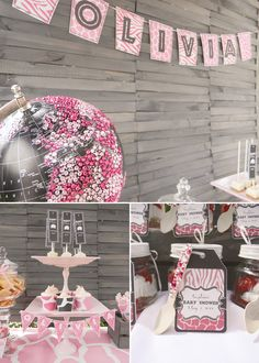 What girl wouldn't want this!! OMG that globe!! Posh & Pink Safari Baby Shower {+ lots of Sparkle}