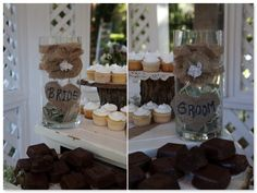 the bride, cake tables, cake cut, place jar