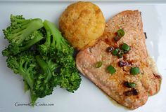 Gourmet Girl Cooks: Pan Seared Asian Style Salmon - Easy Low Carb