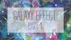 Ana Victoria Calderon How to paint a galaxy - WATERCOLOR - part 1