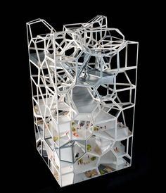 Vertical Village: A Sustainable Way of Village-Style Livingby Yushang Zhang, Rajiv Sewtahal, Riemer Postma & Qianqian Cai  #Model  #Architecture #Vertical_Village