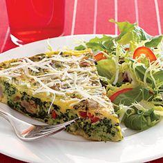 Spinach-Sausage Frittata Recipe | MyRecipes.com