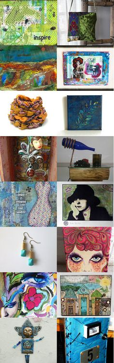 Mixed Media Monday #22 - an etsy.com treasury curated by Carla Bange, Carla's Craft