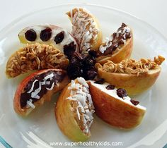 Apple wedges- dessert or snack from super healthy kids #nocookmeals #healthysnacks