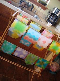tie-dye project with leftover egg dye