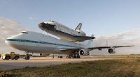 Space Shuttle Discovery before final flight at Kennedy Space Center, Cape Canaveral, Florida