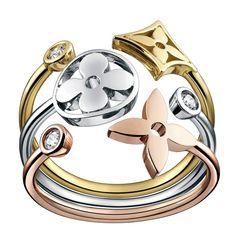 bling, ring, fashion, louis vuitton, style, accessori, loui vuitton, monogram idyll, jewelri