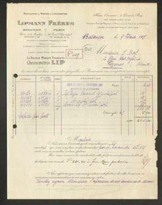 """BESANCON (25) USINE de LA MOUILLERE / FABRIQUE de MONTRES """"LIP / LIPMANN"""" en1925"""