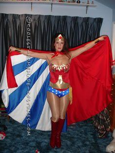 Beautiful Homemade Wonder Woman Costume... Coolest Halloween Costume Contest