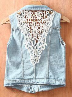 Laced Jean  vest <3