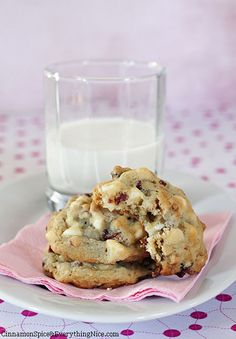 White Chocolate Cranberry Pretzel Cookies | Cinnamon Spice & Everything Nice
