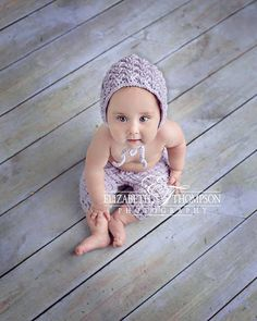 Set of 2 Crochet Patterns for Diagonal Weave Baby Bonnet and Pants or Shorties Set - Multiple Sizes - Welcome to sell finished items