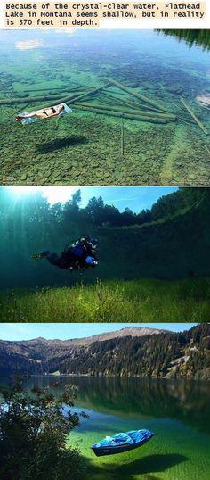 Flathead Lake, Montana. Crystal clear waters. So beautiful.