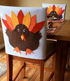 thanksgiving chair covers for kids, honored guests, or just the biggest turkey at the table!