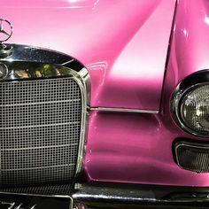 Pink Mercedes....sweet