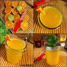 This is one of my favorites to have in the morning, 6 oranges and 1 lime. You can even add a little cayenne for an extra kick! The cool thing is, this recipe doesn't require an electronic juicer, if you have a little manual citrus juicer or squeezer you can use that too! Limes have been shown to have antibiotic properties, and oranges and limes together contain vitamin c which benefits our skin, has antioxidant properties, increases our absorption of iron and boosts immunity. Oranges and lime...