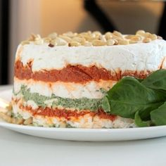 Sun-dried tomato + pesto torta = the ultimate Christmas appetizer!