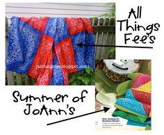 All Things Fee: Summer of JoAnn Inspired Bandana Blanket!