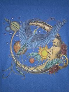 bird, planet, sun moon, sunmoon, star, moon art, artist, blue moon, new tattoos